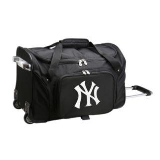 Denco New York Yankees 22-Inch Wheeled Duffel Bag