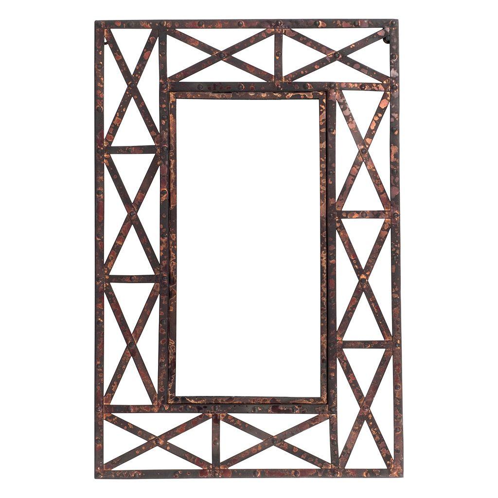 Welded Metal Wall Mirror