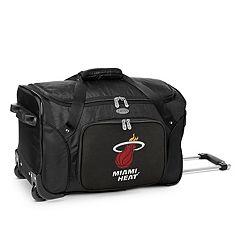 Denco Miami Heat 22-Inch Wheeled Duffel Bag