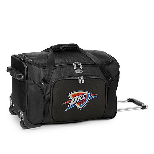 Denco Oklahoma City Thunder 22-Inch Wheeled Duffel Bag