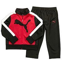 Boys 4-7 PUMA Big Cat Logo Tricot Track Jacket & Pants Set
