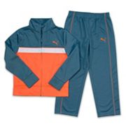 Boys 4-7 PUMA Tricot Colorblock Jacket & Pants Set