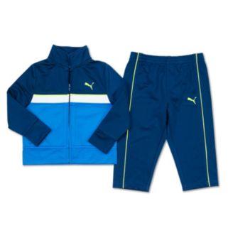 Boys 4-7 PUMA Tricot Colorblock Jacket & Pants Set