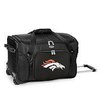 Denco Denver Broncos 22-Inch Wheeled Duffel Bag
