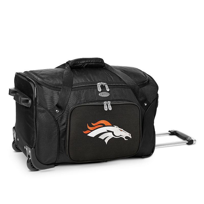Denco Denver Broncos 22-Inch Wheeled Duffel Bag, Black