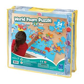 Educational Insights World Foam Map Puzzle | null