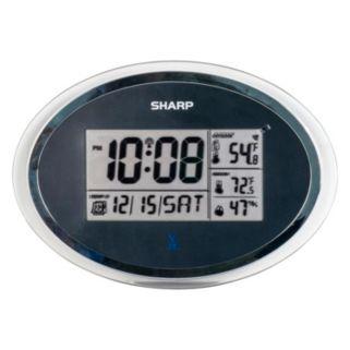Oval Case Atomic Digital Wall Clock