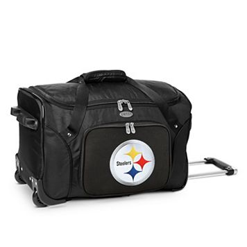 Denco Pittsburgh Steelers 22-Inch Wheeled Duffel Bag