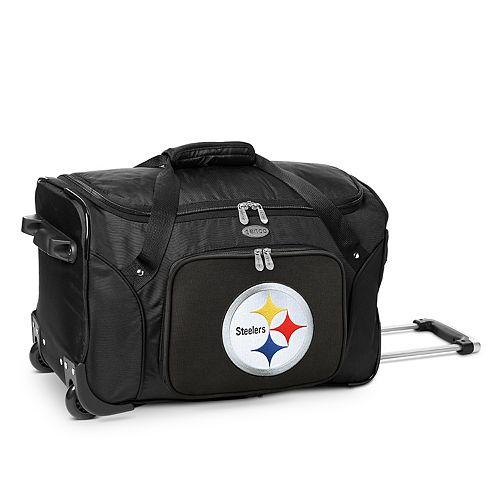 Denco Pittsburgh Steelers 22-Inch Wheeled Duffel Bag