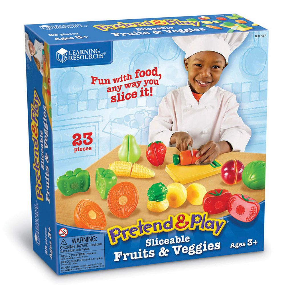 Learning Resources Pretend & Play Sliceable Fruits & Veggies