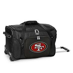 Denco San Francisco 49ers 22-Inch Wheeled Duffel Bag