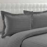 Grand Collection 500-Thread Count Cotton Sateen 3-pc. Woven Stripe Reversible Duvet Cover Set