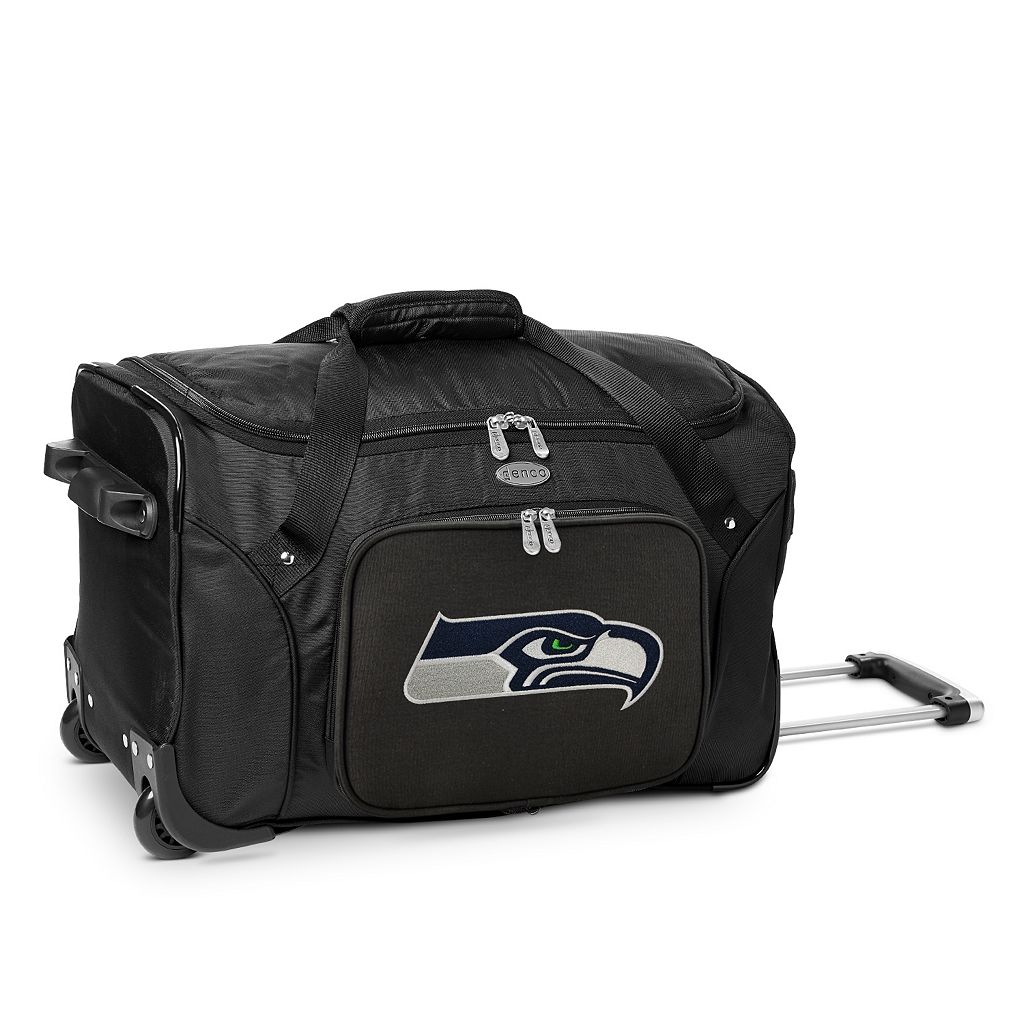 Denco Seattle Seahawks 22-Inch Wheeled Duffel Bag