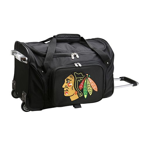 Denco Chicago Blackhawks 22-Inch Wheeled Duffel Bag
