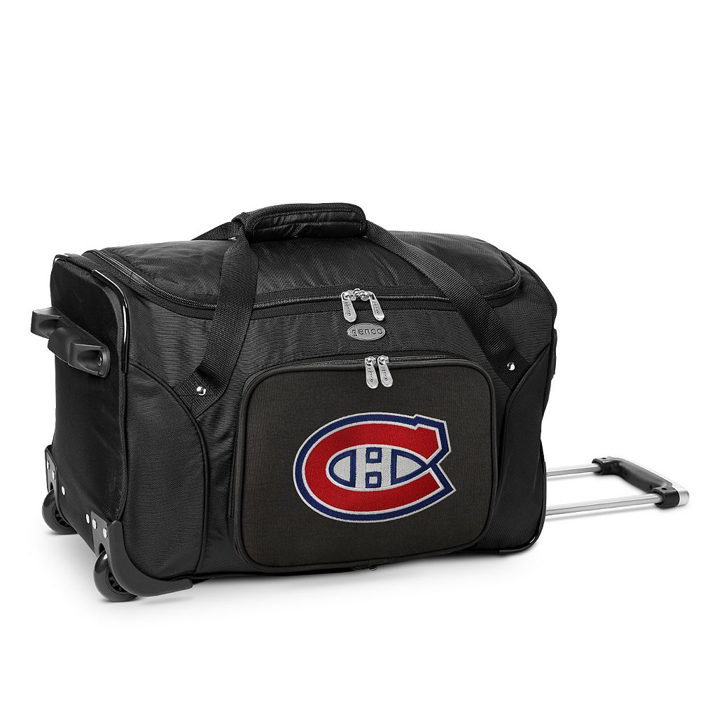 Denco Montreal Canadiens 22-Inch Wheeled Duffel Bag