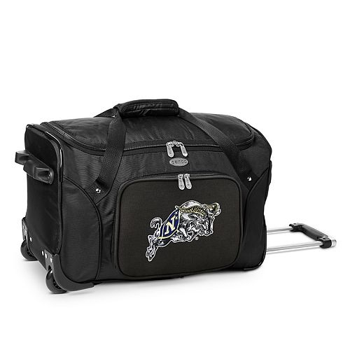 Denco Navy Midshipmen 22-Inch Wheeled Duffel Bag