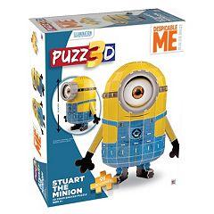 Puzz3D Despicable Me Stuart The Minion 91 pc Puzzle