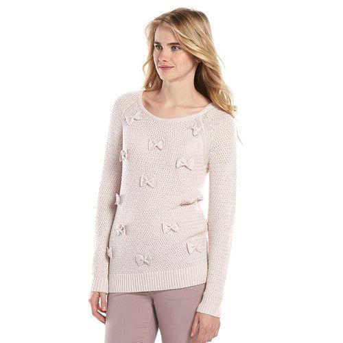 Women's LC Lauren Conrad Bow Scoopneck Sweater