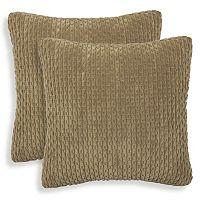 Beacon 2 pc Ribbed Plush Throw Pillow Set