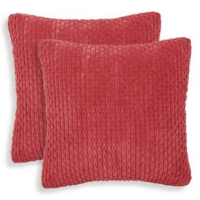 Beacon 2-piece Ribbed Plush Throw Pillow Set