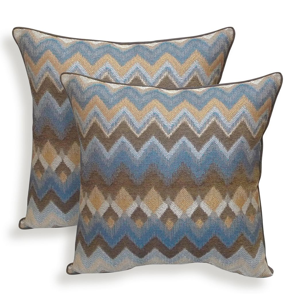 Bianca 2-piece Chenille Chevron Throw Pillow Set