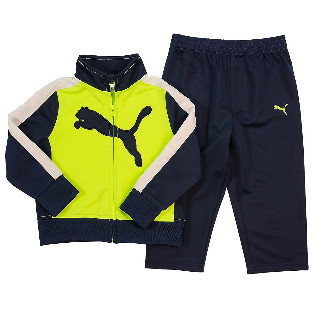 Toddler Boy PUMA Big Cat Logo Tricot Track Jacket & Pants Set