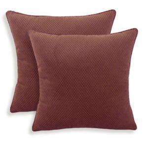 Convex 2-piece Textured Woven Throw Pillow Set