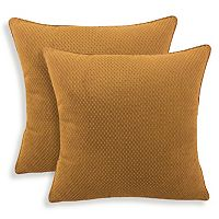 Convex 2-piece Textured Woven Throw Pillow Set