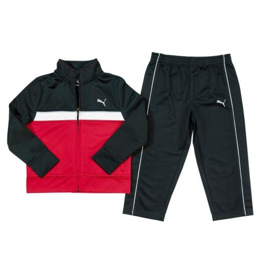 Toddler Boy PUMA Tricot Colorblock Jacket & Pants Set