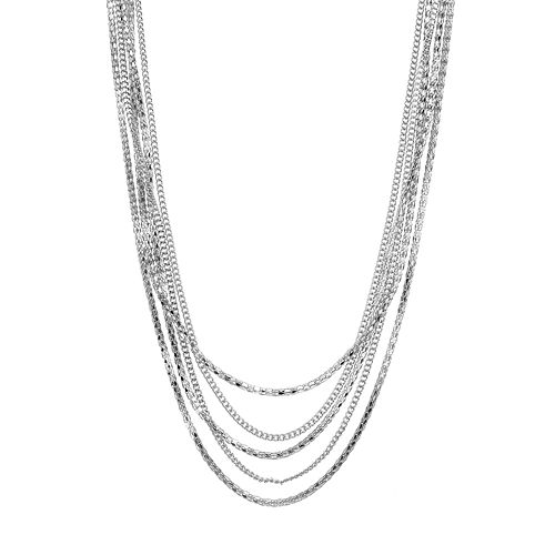 Jennifer Lopez Long Multistrand Chain Necklace