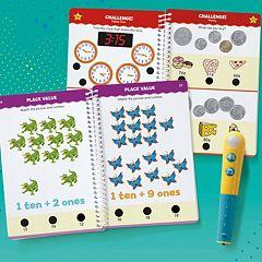 Educational Insights Hot Dots Let's Master Grade 1 Math Book Set