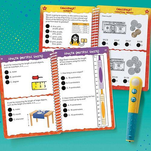 Educational Insights Hot Dots Let's Master Grade 2 Math Book Set