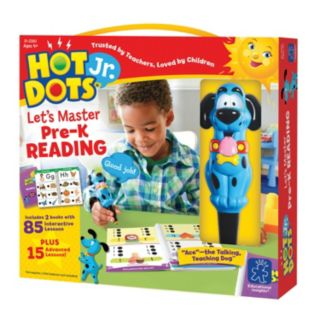 Educational Insights Hot Dots Jr. Let's Master Pre-K Reading Book Set