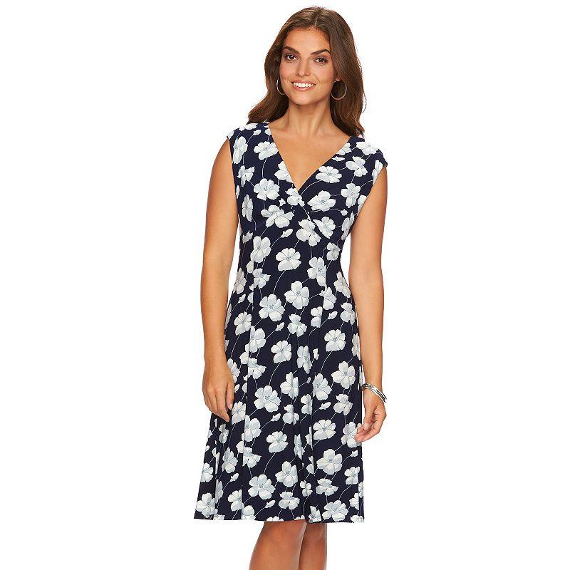 Women's Chaps Surplice Shift Dress