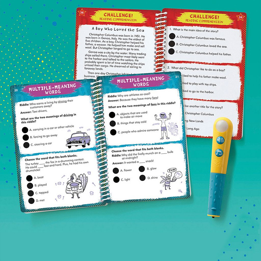 Educational Insights Hot Dots Jr. Let's Master Grade 3 Reading Book Set