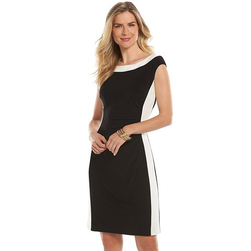 50bd0cfe Chaps Colorblock Ruched Dress - Women's