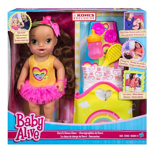 Baby Alive Darci S Dance Class Brown Hair Doll By Hasbro