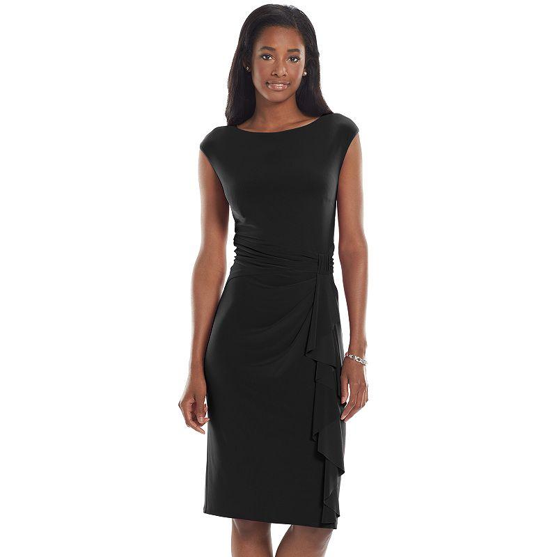 Chaps Knot-Front Sheath Dress - Women's