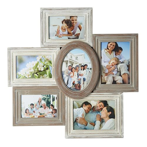 Melannco 6 Opening Distressed Fashion Collage Frame