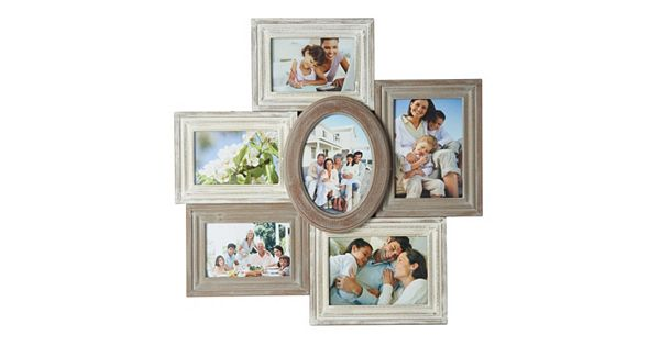 Melannco 6 Opening Distressed Collage Frame