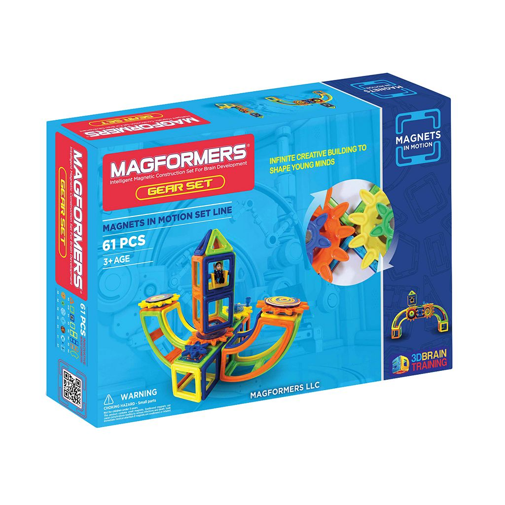 Magformers 61-pc. Opaque Magnets in Motion Set