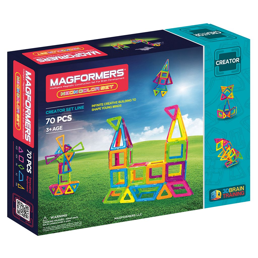 Magformers 70-pc. Neon Set