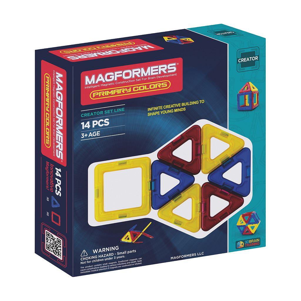 Magformers 14-pc. Designer Set Primary Color Set