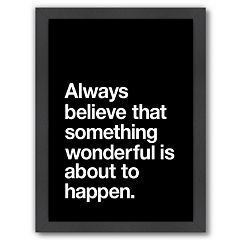 Americanflat 'Always Believe' Framed Wall Art