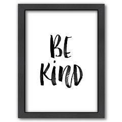 Americanflat 'Be Kind' Framed Wall Art
