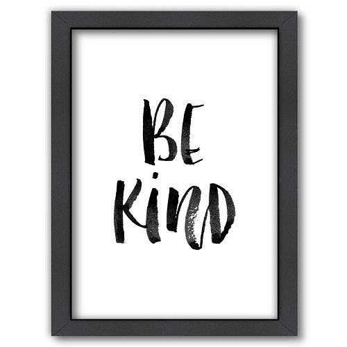 "Americanflat ""Be Kind"" Framed Wall Art"