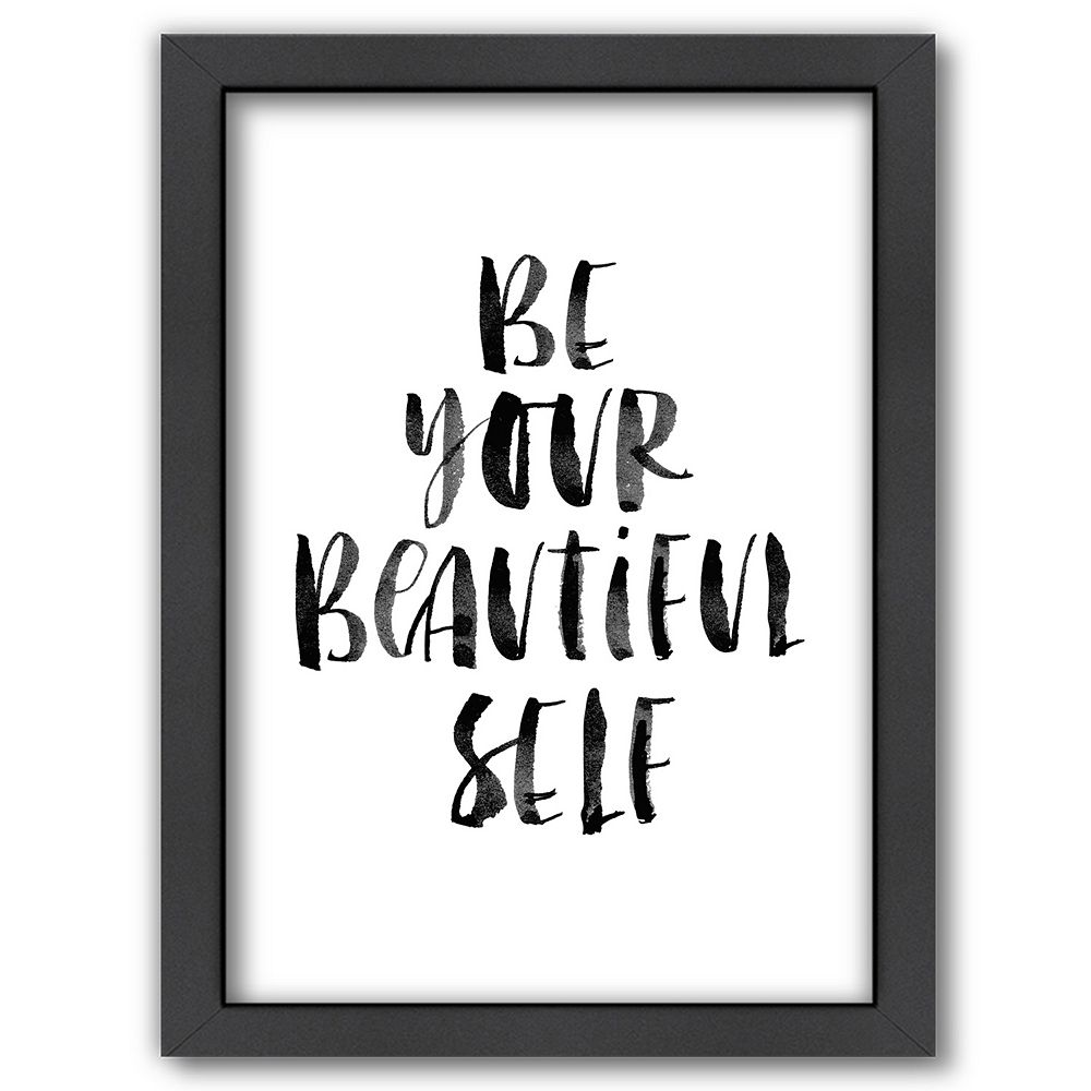 "Americanflat ""Be Your Beautiful Self"" Framed Wall Art"
