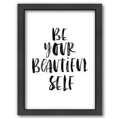 Americanflat 'Be Your Beautiful Self' Framed Wall Art