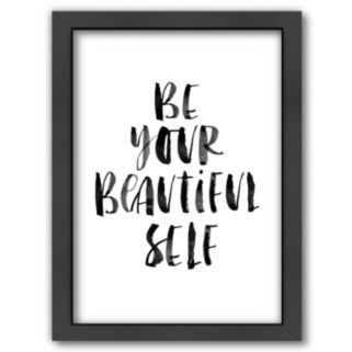 """Americanflat """"Be Your Beautiful Self"""" Framed Wall Art"""