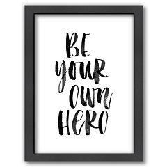 Americanflat 'Be Your Own Hero' Framed Wall Art